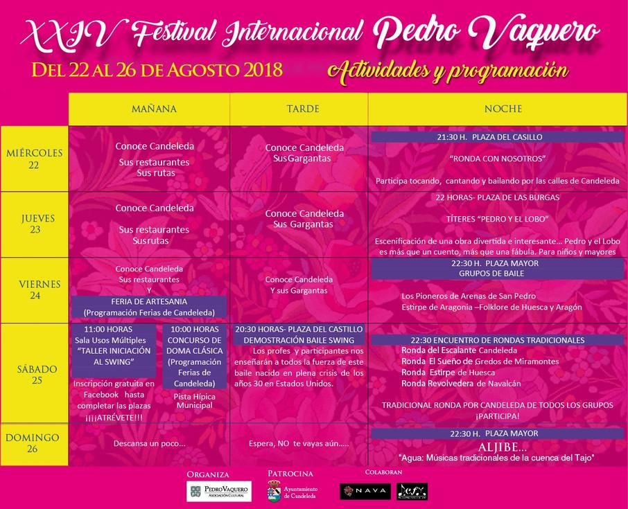 XXIV Festival Internacional PEDRO VAQUERO 2018 (Candeleda, Ávila)
