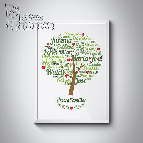 Poster Árvore Familiar  -  Cor Primavera