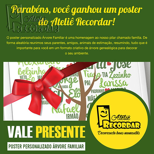 Vale-Presente: Poster Árvore Familiar