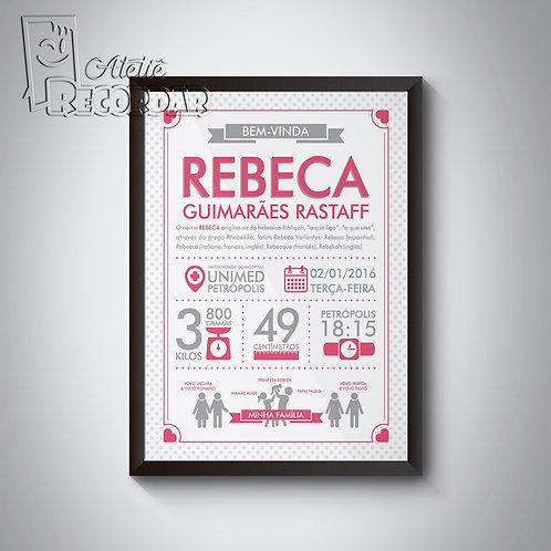 Poster BemVindo(a) - Cor Batom