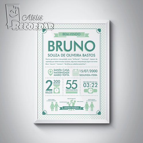 Poster BemVindo(a) - Cor Natureza
