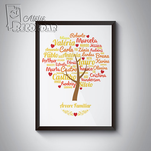 Poster Árvore Familiar  -  Cor Outono