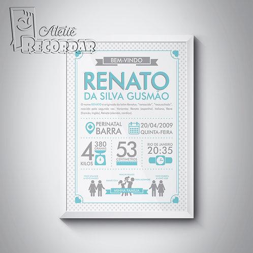 Poster BemVindo(a) - Cor Anis