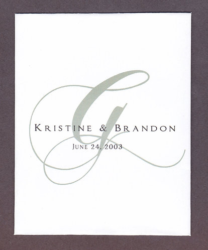 Grey Monogram Seed Packet
