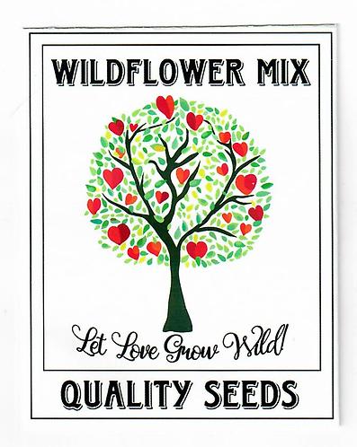 Heart Tree Wildflower Seed Packet