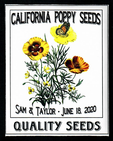 California Poppy Personalized Seed Packet