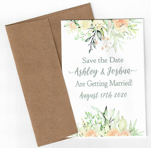 Silver Rose Save the Date Seed Packet Mailer