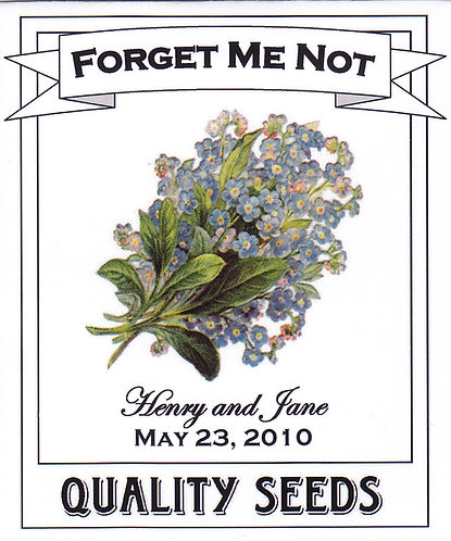 Victorian Forget Me Not Seed Packet