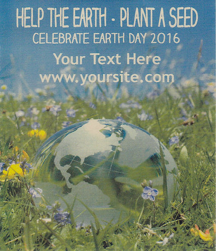Global Fields Earth Day Seed Packet