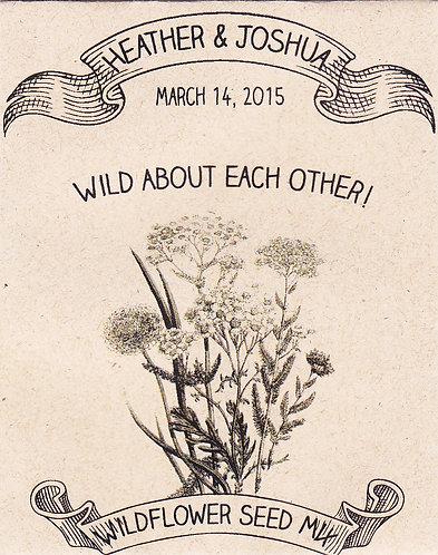 Rustic Wildflower Seed Packet