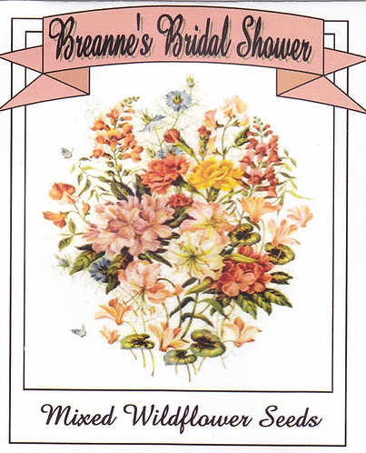 Classic Bridal Shower Wildflower Seeds