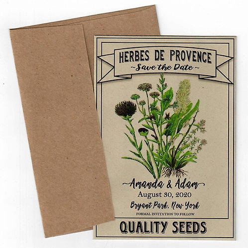 Herbes De Provence Seed Save the Date