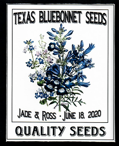 Texas Bluebonnet Personalized Seed Packet