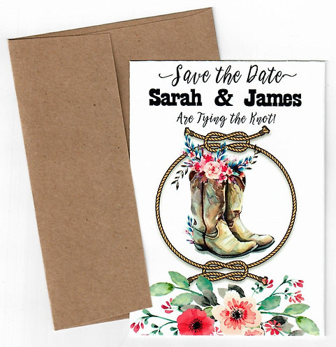 Tying the Knot Save the Date Seed Packet Mailer