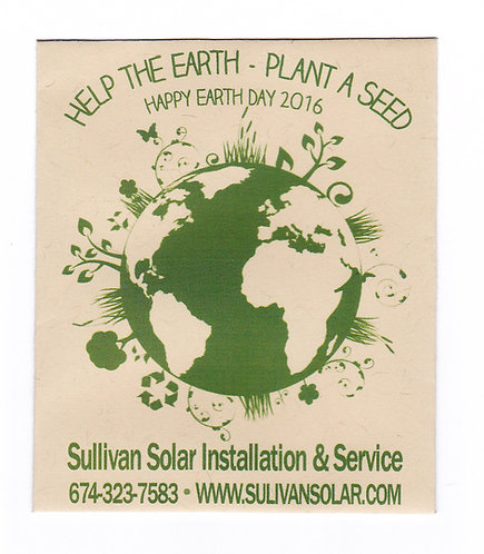 Green Earth Day Seed Packet