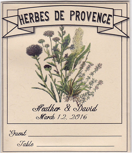 Herbs De Provence Seating Card Seeds