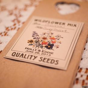 Love is in Bloom! See our Seeds in Beautiful Weddings.