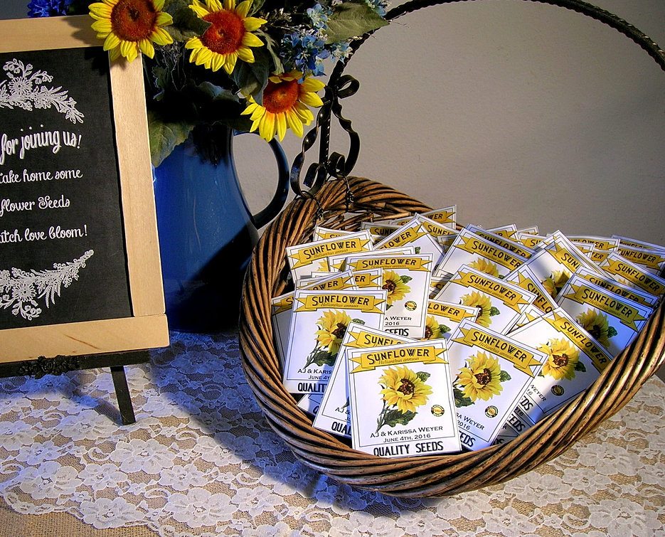 Seedpackets2u Personalized Seed Packets For Weddings And More