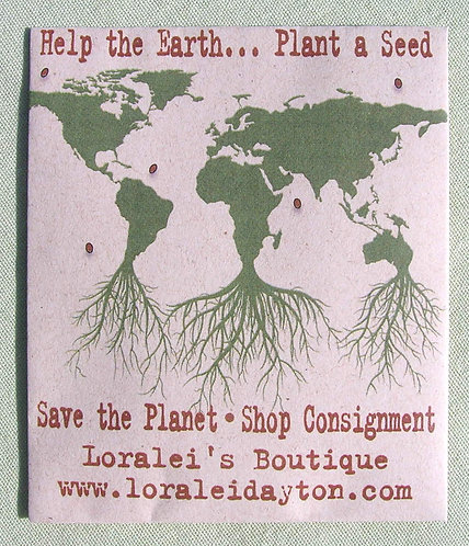 Earth Day Roots Seed Packet