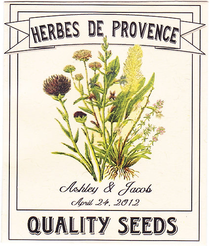 Herbes De Provence Seed Packet
