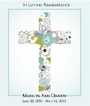 Blue Flower Cross Memorial Seed Packet