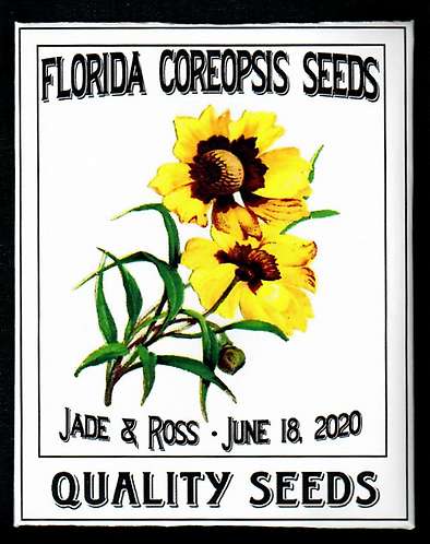 Florida Coreopsis Personalized Seed Packet