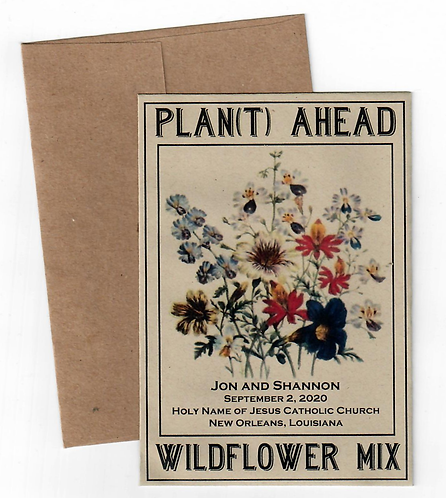 Recycled Wildflower Mix Save the Date