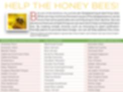 Seasonal Bee Friendly Flower List