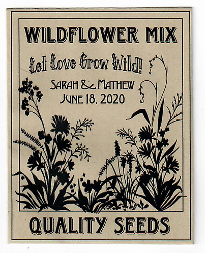 Earth Friendly Wildflower Seed Packet