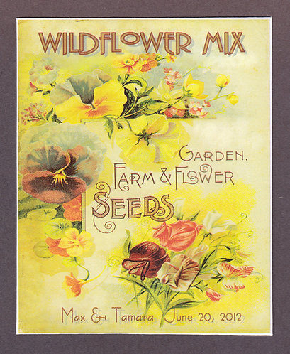 Sweet Pea Design Wildflower Seed Packet
