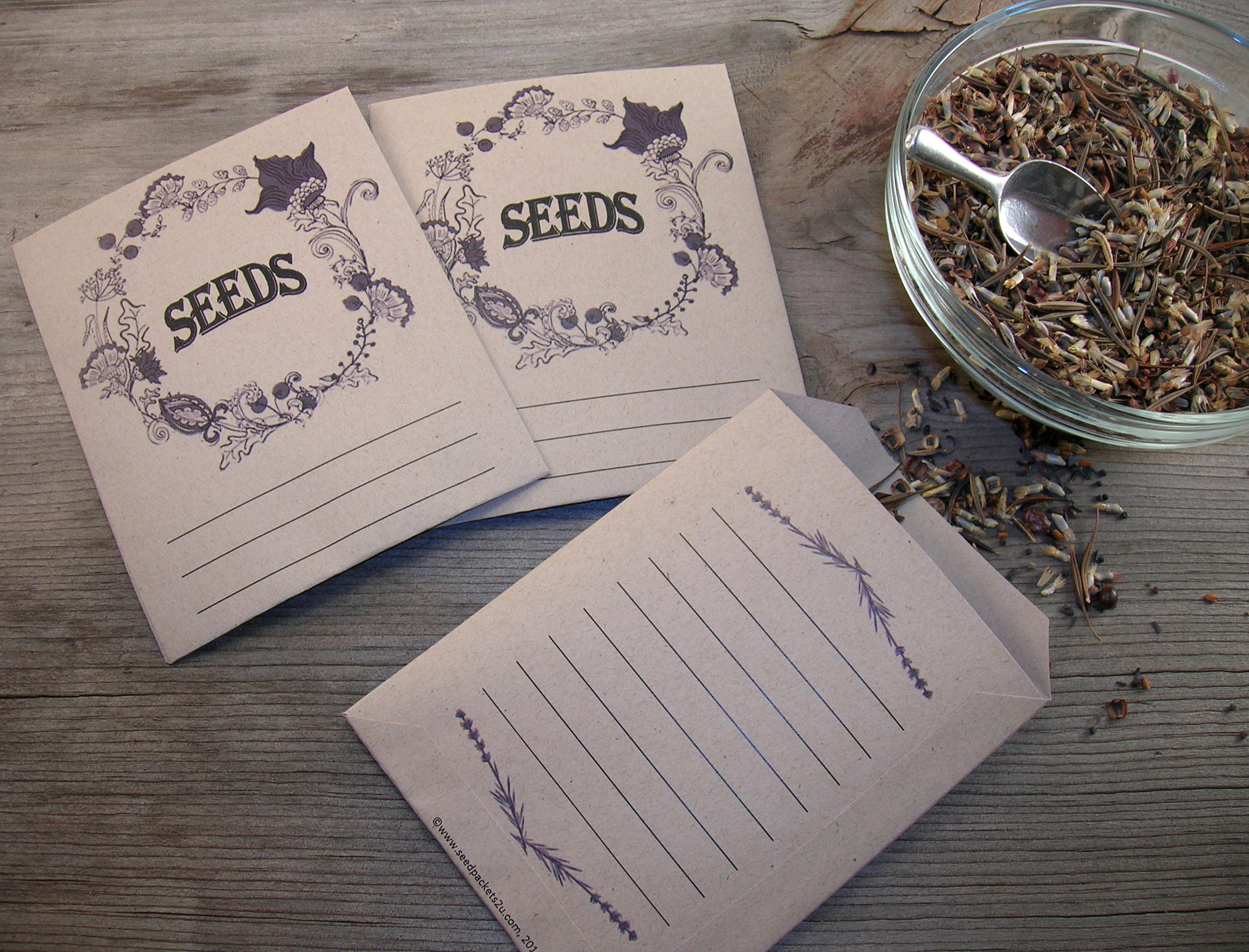 free printable seed packets for seed saving sharing