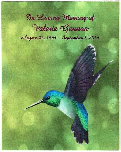 Hummingbird Memorial Seed Packet