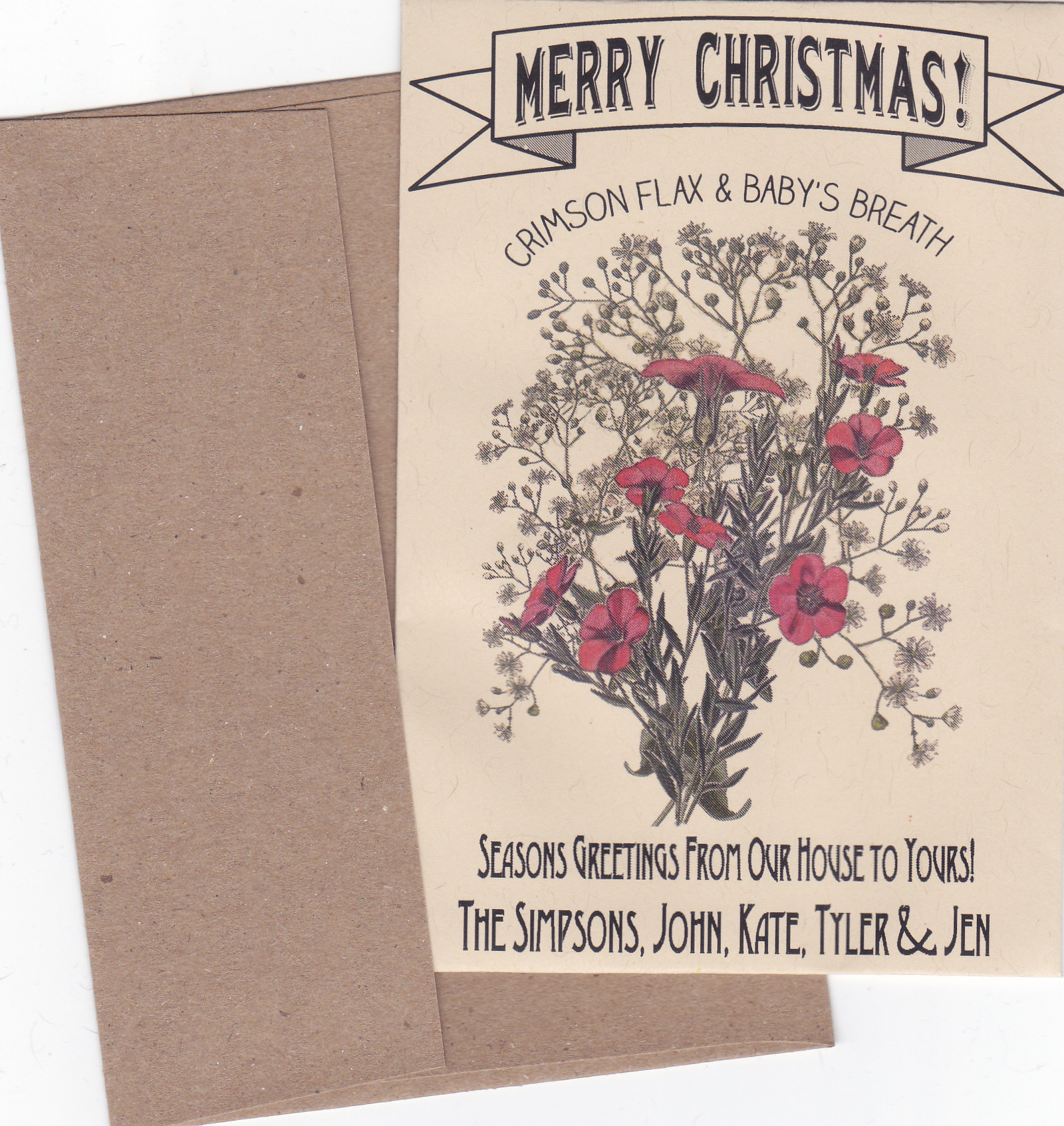 new crimson flax and baby s breath christmas seed cards perfect