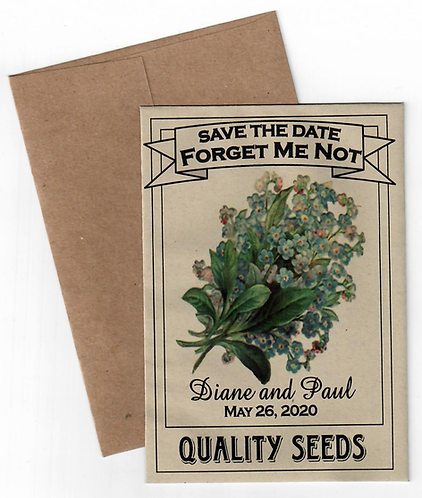 Forget Me Not Seed Save the Date