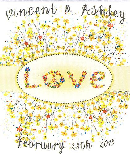 Peace & Love Wildflower Seed Packet