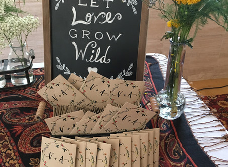 Our Newest Wildflower Wedding Seed Packet Design!