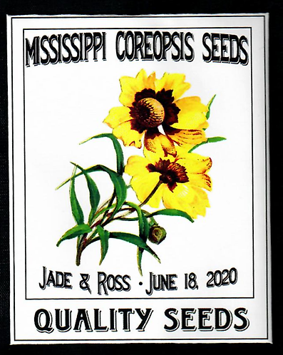 Mississippi Coreopsis Personalized Seed Packet