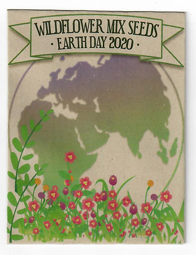 Earth Flowers Wildflower Seed Packet