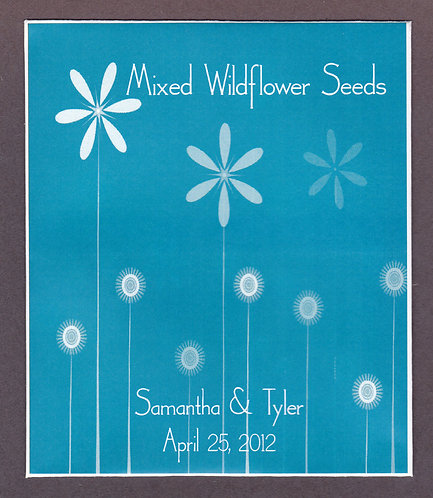 Turquoise Daisy Seed Packet