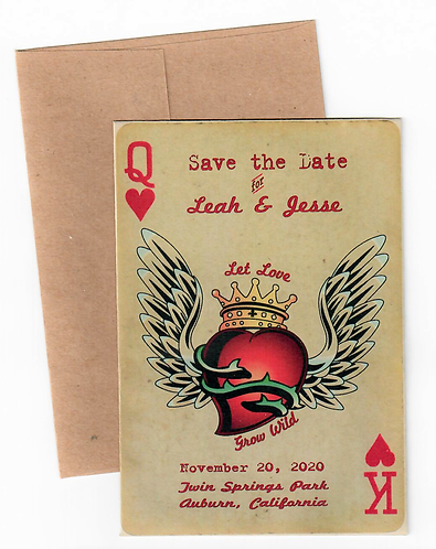Wild Hearts Save the Date Wildflower Seeds