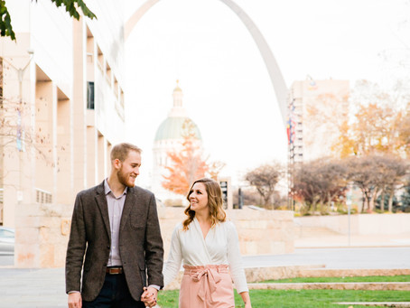 Ryan & Brooke | Engagement Session | Downtown St. Louis