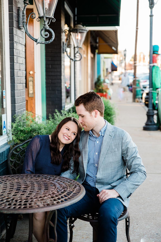 Eureka Missouri Engagement Session | St. Louis Missouri Wedding Photographer | Main Street Engagement Session | Urban Engagement Session