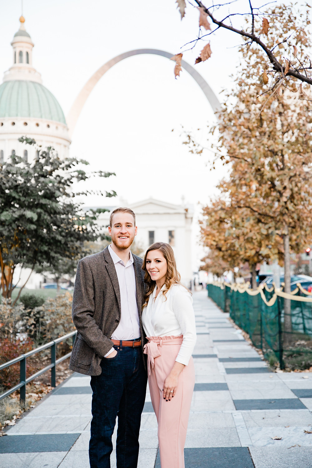 Downtown St. Louis Kiener Plaza Engagement Session | Engagement Photographer St. Louis