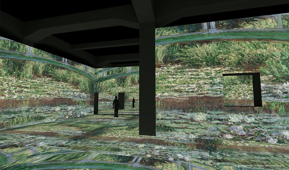 Monet's Water Lilies recreated at the Immersive Museum in Japan