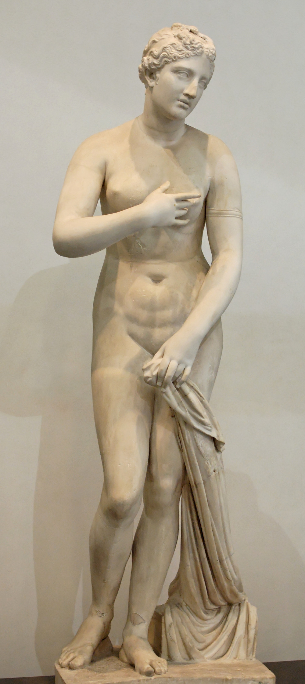 Greek Marble Statue of Aphrodite, signed by Menophantos, in the Palazzo Massimo, Rome.