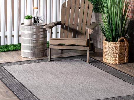 SHOP nuLOOM Gris Border Indoor/Outdoor Area Rug