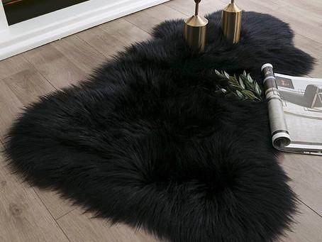 Ashler Faux Sheepskin Fur Area Rug