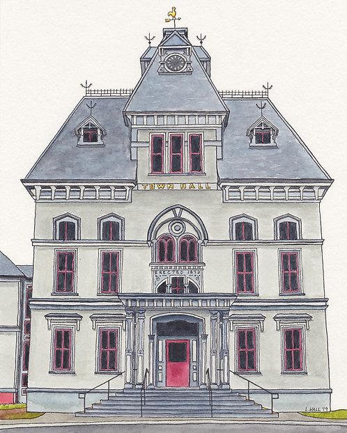 Topsfield Town Hall Giclée Print