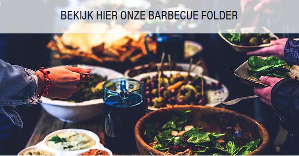 Barbecue, worst, grillworst, salades, rauwkost, kip, kalkoen, kalf, biefstuk, rundsvlees, rund, entrecote, rib-eye, grill, houtskool, buffet, passie, ambacht, BBQ, barbecuefolder, tomaten, wortel, salade