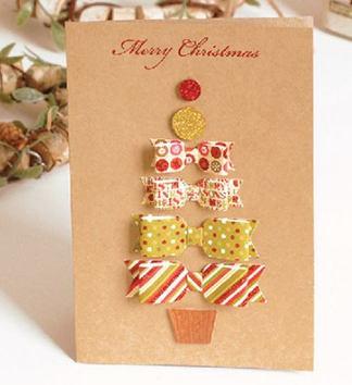 クリスマスメッセージカードT1